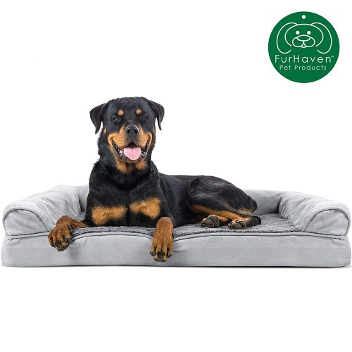 Furhaven Pet Dog Bed | Therapeutic Plush