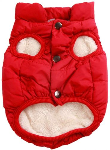 JoyDaog 2 Layers Fleece Lined Warm Dog Jacket