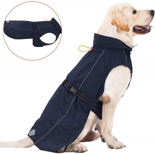 Pro Plums Dog Raincoat Adjustable Lightweight Jacket