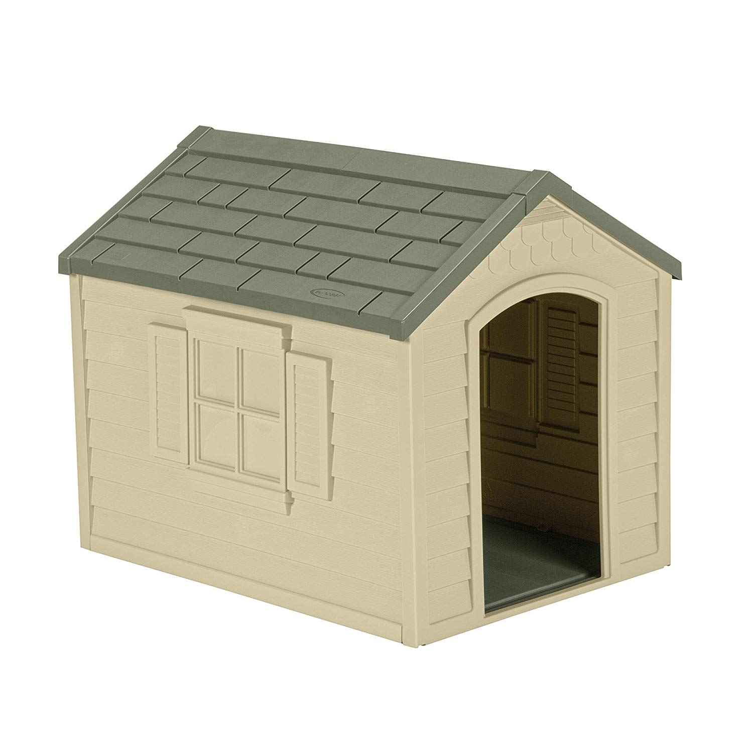 Suncast Outdoor Dog House - Perfect for Backyards