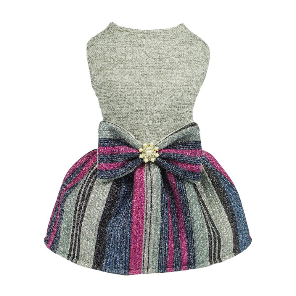 Fitwarm Bling Bling Striped Pet Clothes