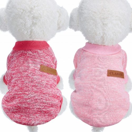 SATINIOR 2 Pieces Pet Clothing Winter Puppy Classic