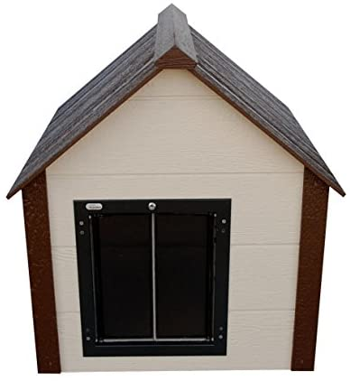 Climate Master Plus Insulated Dog House w Door - heated dog houses