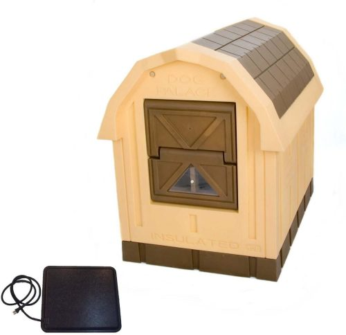 ASL Solutions Deluxe Insulated Dog Palace with Floor Heater- heated dog houses