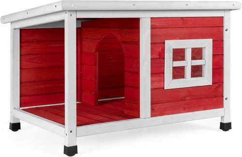 Best Choice Products All-Weather Fir Wood Pet Dog House