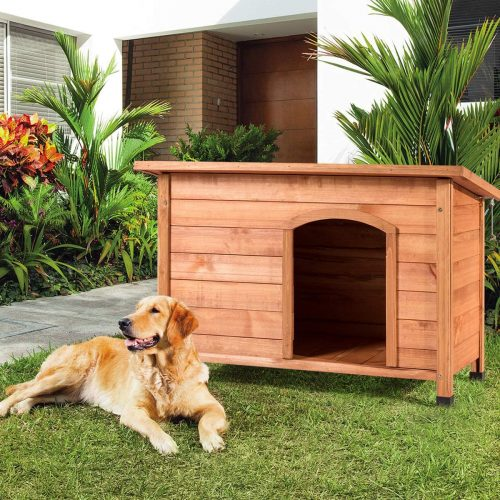 Tangkula Dog House, Outdoor Weather-Resistant- heated dog houses