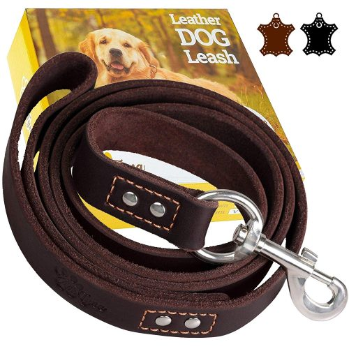 ADITYNA Heavy Duty Leather Dog Leash