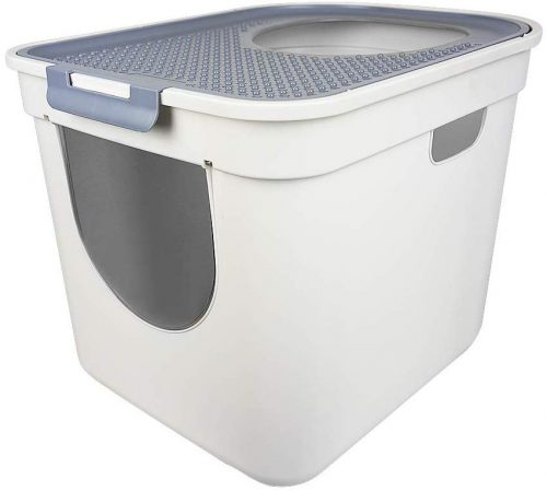 ATDAWN Cat Litter Box, Top Entry or Front Entry Cat Litter Pan