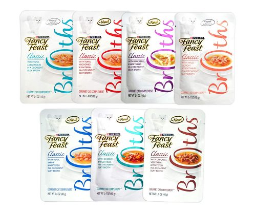 Fancy Feast Gourmet Broths Variety Pack for Cats-Liquid cat foods