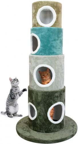 FrontPet Stackable Multi-Color Cat Tree Climbing Tower,