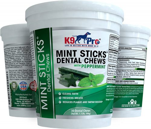 K9 Pro Mint Sticks Dog Dental Chews