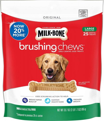Milk-Bone Original Brushing Chews Daily Dental Dog Treats,