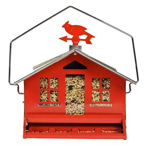 Perky-Pet 338 Squirrel Be Gone Country House Bird Feeder