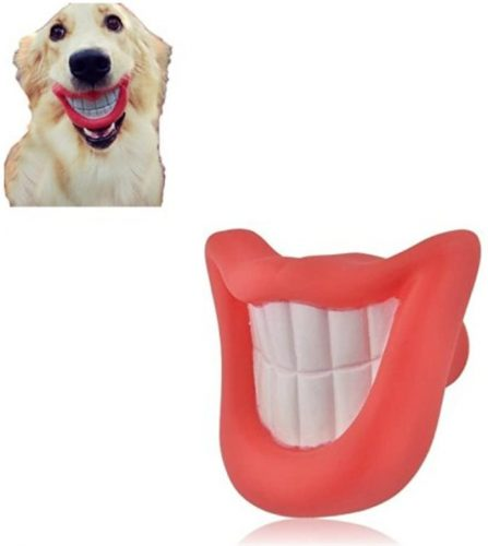 Prettysell Puppy Dog Toys Big Red Lip Rubber Toy