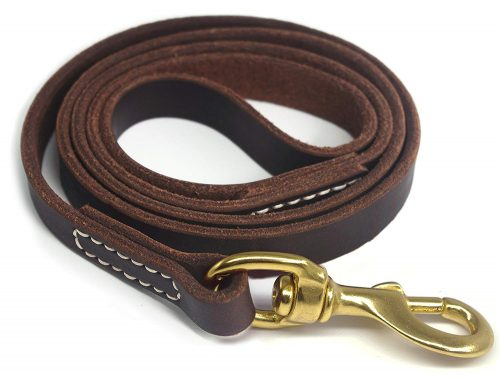 YOGADOG Genuine Leather Dog Training Leash