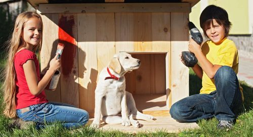 The way to heat a dog house in the winter?