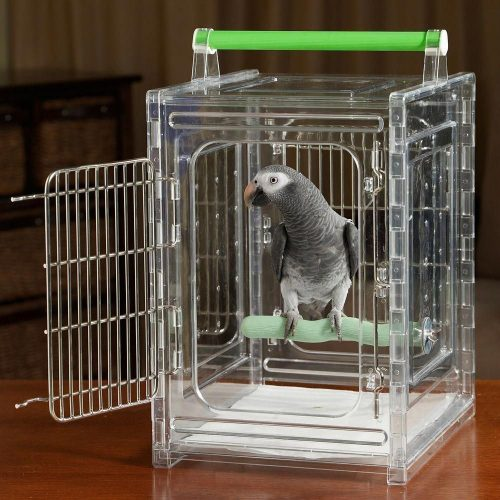 P & P Acrylic Parrot Travel Carrier CAGE