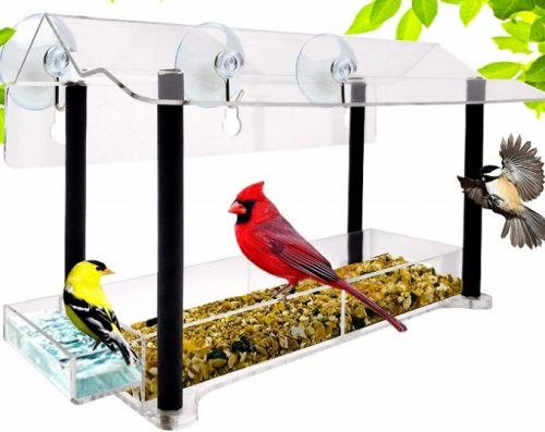 Nature gear hanging window feeder cage
