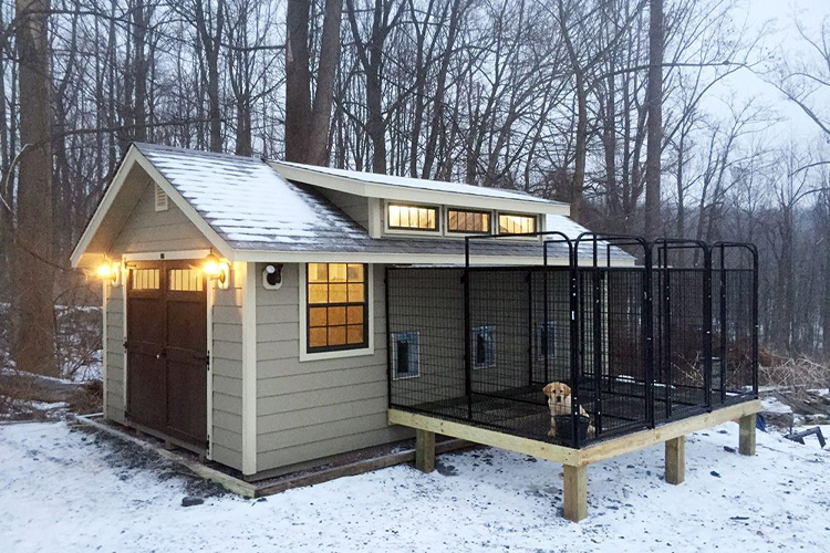 outdoor heated dog houses