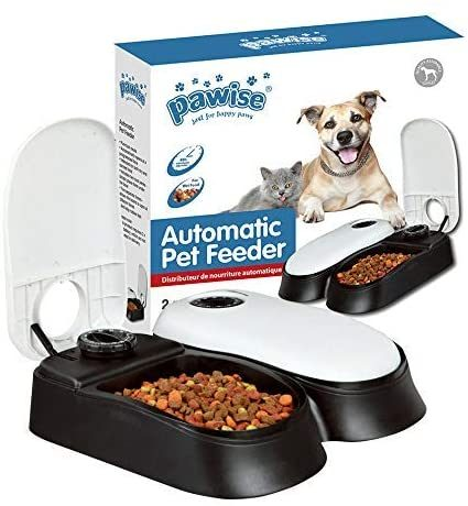 PAWISE Automatic Pet Feeder Food Dispenser with Timer | smart pet feeders