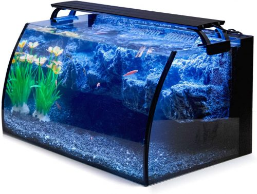hygger Horizon 8 Gallon LED Glass Aquarium Kit