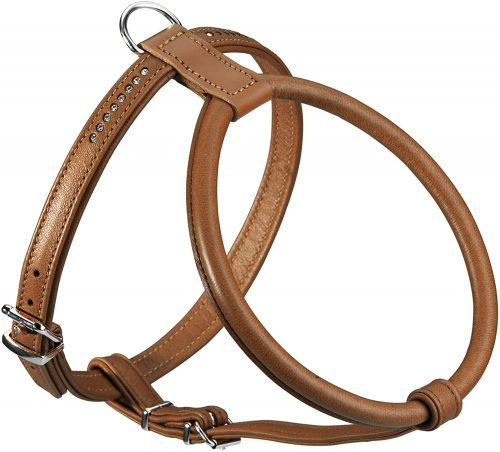 HUNTER Round and Soft Elk Leather Petit Dog Harness