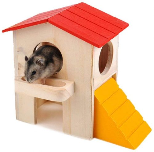 Wontee Hamster Hideout Small Animals Wooden House