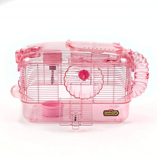 Kaytee CritterTrail One Level Habitat Pink Edition - hamster travel cages