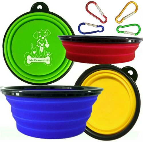 Mr. Peanut's Collapsible Dog Bowls