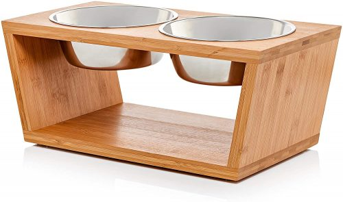 Pawfect Pets Elevated Dog and Cat Pet Feeder