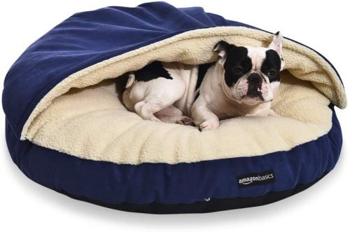 AmazonBasics Medium Pet Cave Bed - Burrow Dog Bed