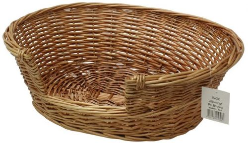 JVL Pet Basket Willow - Wicker Dog Bed