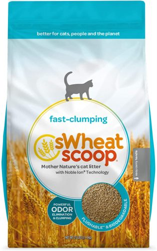 sWheat Scoop Natural Fast-Clumping Wheat Cat Litter - Flushable Cat Litter