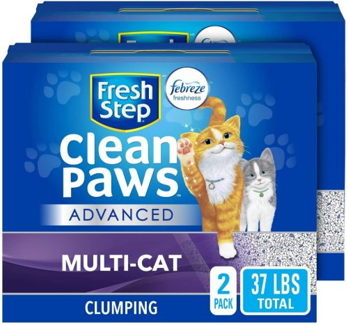 Fresh Step Clean Paws Unscented Low Tracking - Flushable Cat Litter