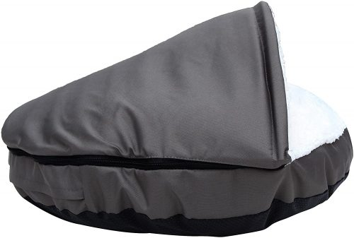 long rich Durable Oxford to Sherpa Pet Cave - Burrow Dog Bed