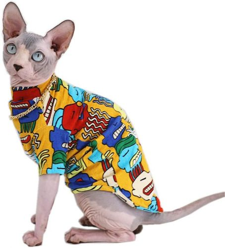 Kitipcoo Sphynx Summer Cotton Shirts Pet Clothes