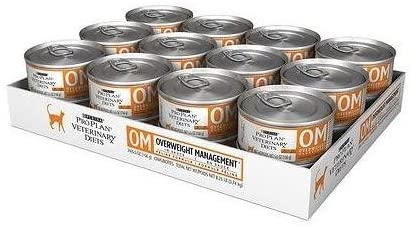 Purina OM Overweight Management Canned Cat Food | low protein cat food