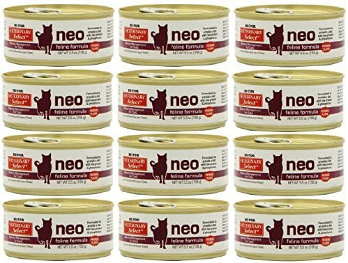 Hi-Tor 12 Pack of Veterinary Select Neo Diet | low protein cat food