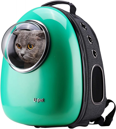 1.U-pet Bubble Pet Travel Backpack Carriers Green