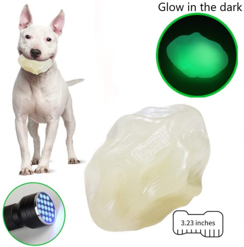 EETOYS Dog Chew Toy for Aggressive Chewers Glow- Indestructible Dog Ball