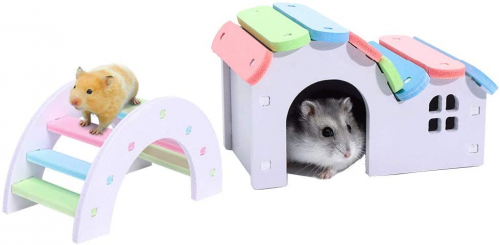 Dwarf Hamsters House DIY Wooden Gerbil