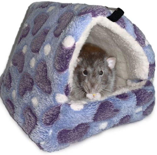 Oncpcare Winter Warm Hamster Bed Playing Soft | guinea pig fleece bedding