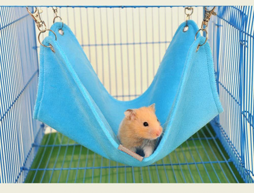 Keersi Winter Warm Plush Hammock Swing Hanging Bed - Syrian Hamster Toy