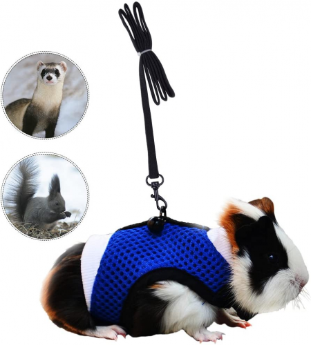 PERSUPER - Soft Mesh Small Pet Harness - Hamster leashes