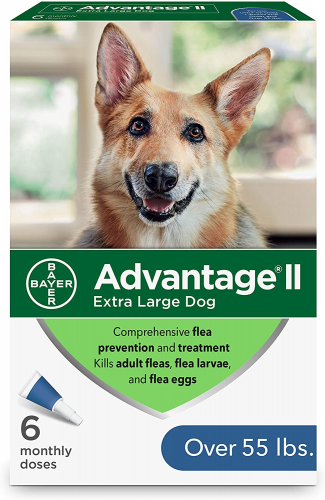 Bayer Advantage II Flea and Lice Treatment for X-Large Dogs - dog lice treatment