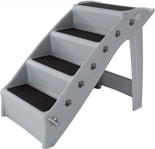 Folding Plastic Pet Stairs Durable | Dog ramp for truck
