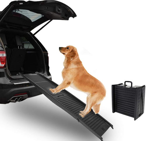 ECOTRIC Folding Pet Dog Ramps for SUV Truck RV Cars | Dog ramp for truck