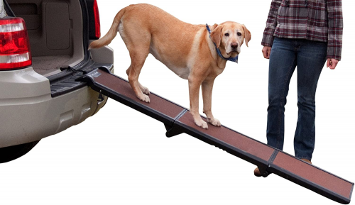 Pet Gear Full Length Ramp, Patented Compact | Dog ramp for truck