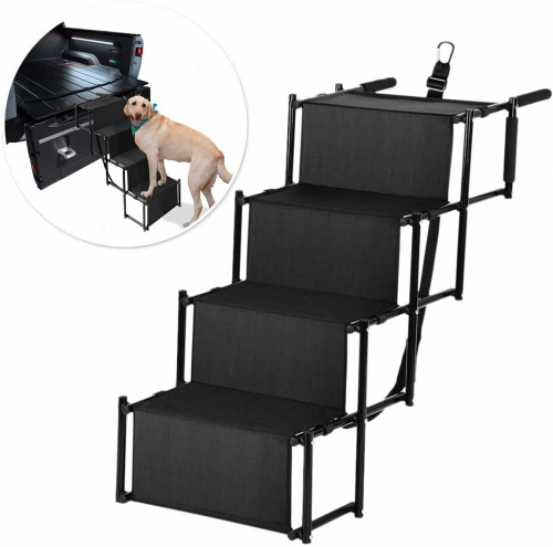 Zone Tech Car Pet Foldable Step Stair | Dog ramp for truck