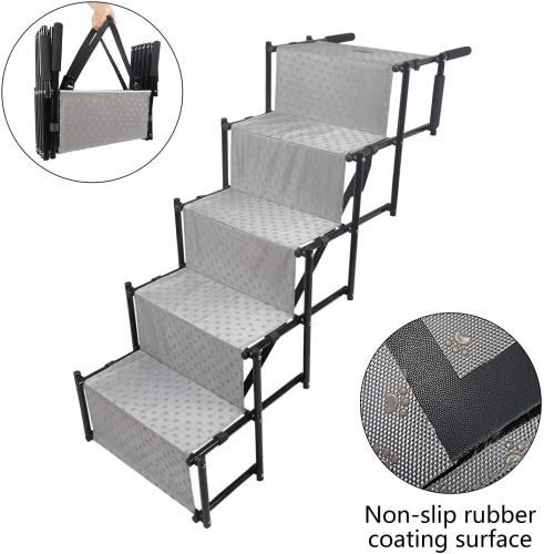 YEP HHO 5 Steps Upgraded Folding Pet Stairs Ramp